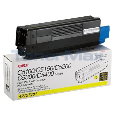 OKIDATA C5100N TONER YELLOW 5K